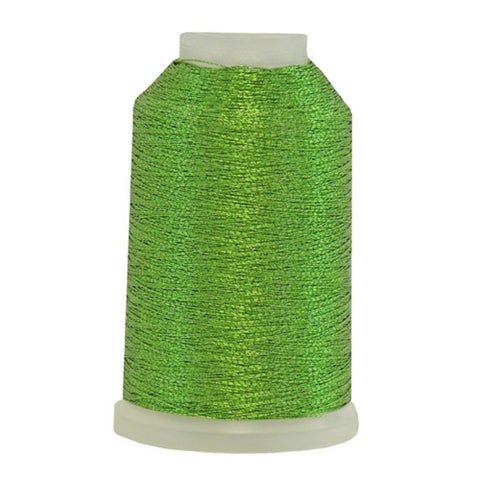 YLI Fine Metallic in Spring Green, 500yd Spool