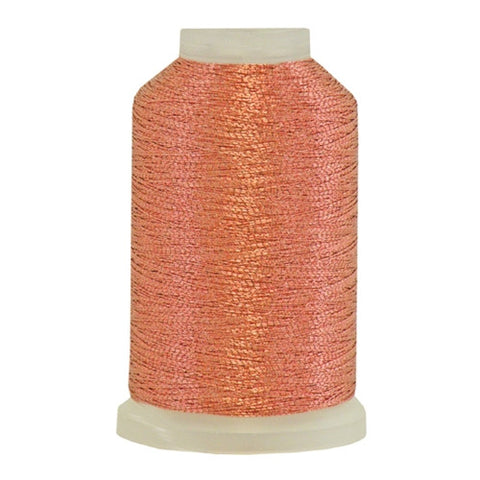 YLI Fine Metallic in Terra Cotta, 500yd Spool