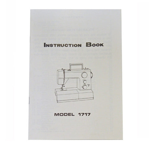 Instruction Book For White 1717