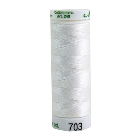 Mettler 60wt Embroidery Cotton in Natural, 219yd