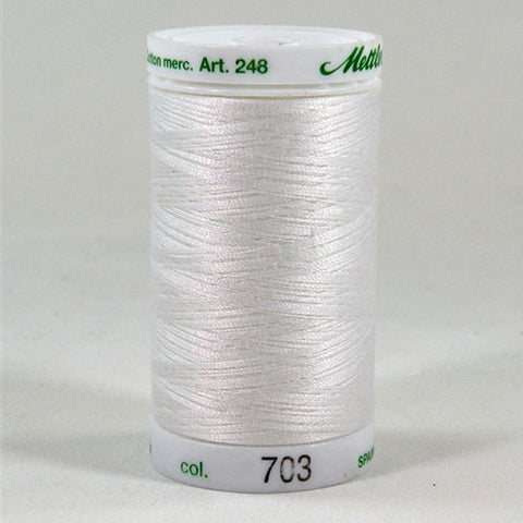 Mettler 60wt Embroidery Cotton in Natural, 875yd Spool
