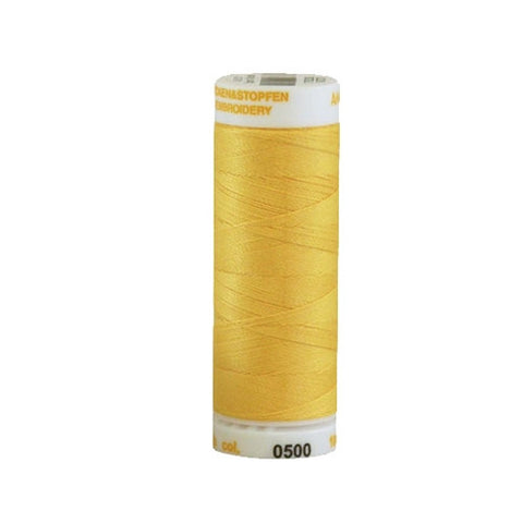 Mettler 30wt Embroidery Cotton in Daffodil, 219yd