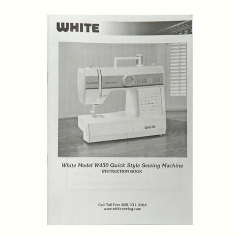Instruction Book for White W450