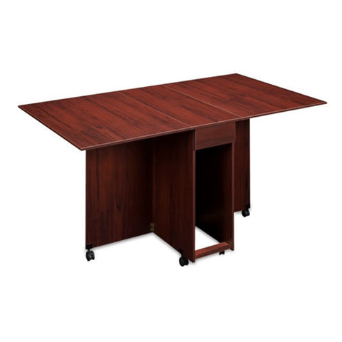 Assembled Cutting and Craft Table in Mahogany Clove