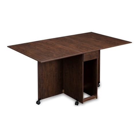 Assembled Cutting and Craft Table in Brown Pear Wood