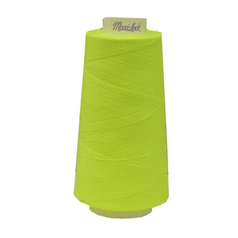 Maxilock Serger Thread in Neon Yellow, 3000yd Spool