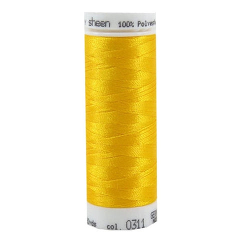 Mettler Polysheen in Canary, 220yd Spool