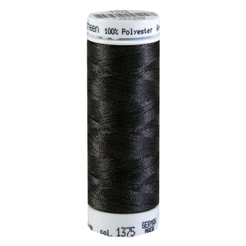 Mettler Polysheen in Dark Charcoal, 220yd Spool