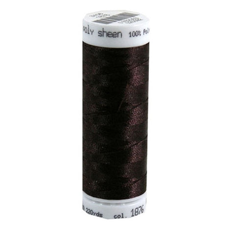 Mettler Polysheen in Chocolate, 220yd Spool