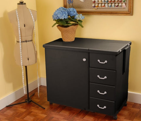 Arrow Norma Jean Black Sewing Machine Cabinet