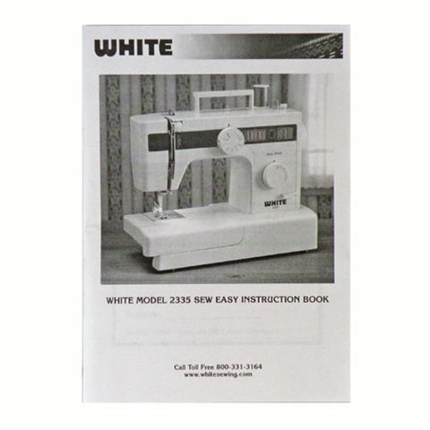 Instruction Book for White 2335
