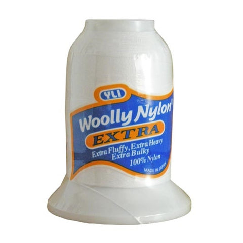 YLI Woolly Nylon Extra in White, 300m Spool