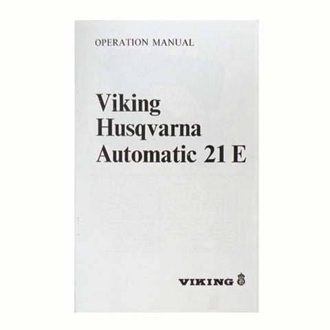 Instruction Book for Viking 21E