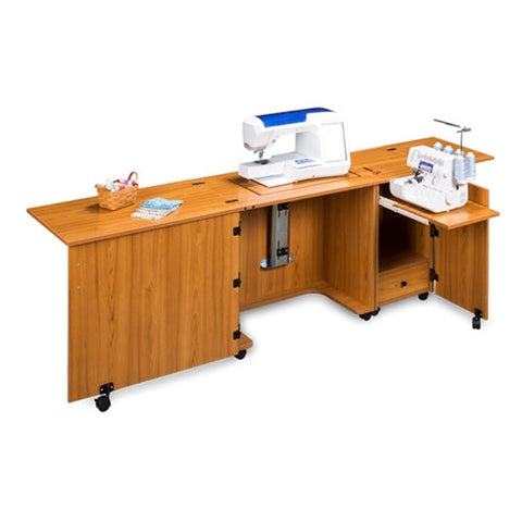 Sewing and Serger Cabinet Combo 1050 in Teak