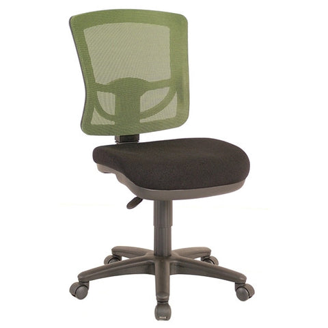 Comfortable Sewing Chair in Green with Mesh Back