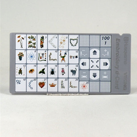 Sampler d-Card 100 1 for Viking Designer II,