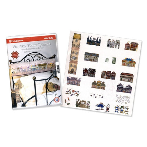 Fantasy Town Square Embroidery CD #83