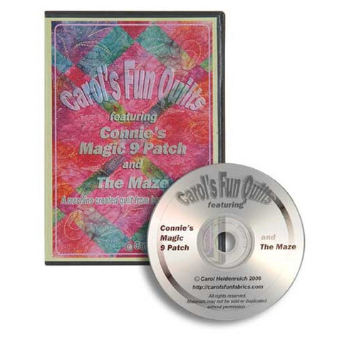 Carol's Fun Quilts Video CD