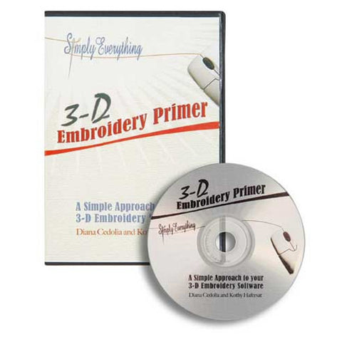 3D Embroidery Primer Video CD
