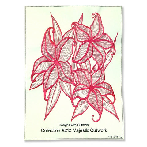 Design Stitch Out Embroidery CD #212 Majestic Cutwork
