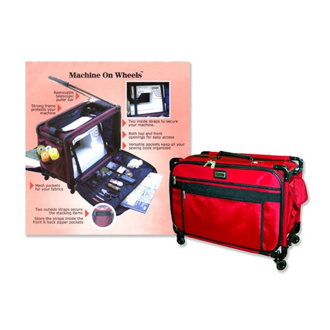 Tutto Medium Red Machine Bag with Wheels & Handle
