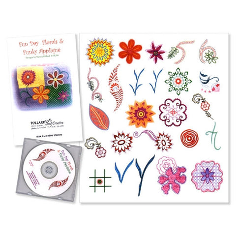 Fun Day Florals & Funky Applique by Marcia Pollard