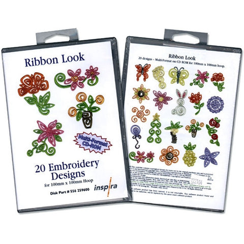 Ribbon Look Embroidery Design CD by Inspira