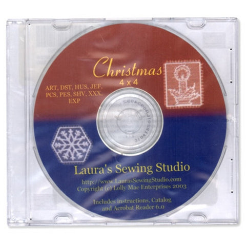 Christmas 4x4 Design CD by Laura's Sewing Studio
