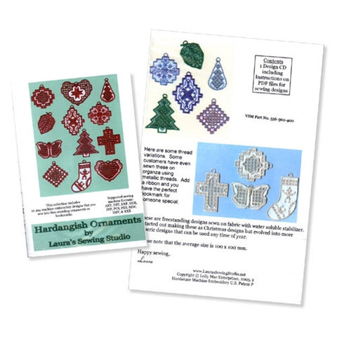 Hardangish Ornaments Design CD by Laura's Sewing