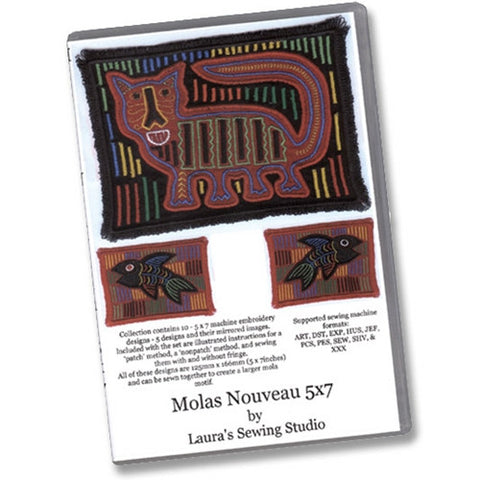 Molas Nouveau 5x7 Design CD by Laura's Sewing
