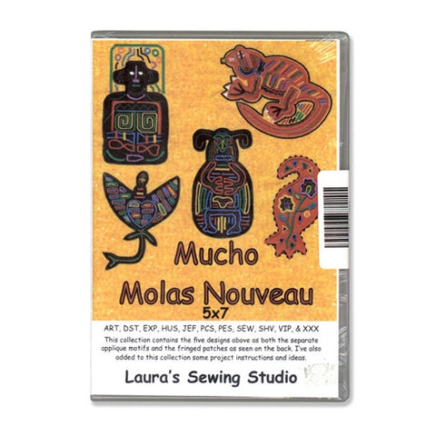 Mucho Molas Nouveau 5x7 Design CD by Laura's Sewing