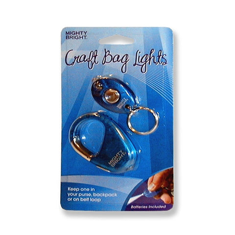 Blue Key Chain & Carabiner with LED Lights