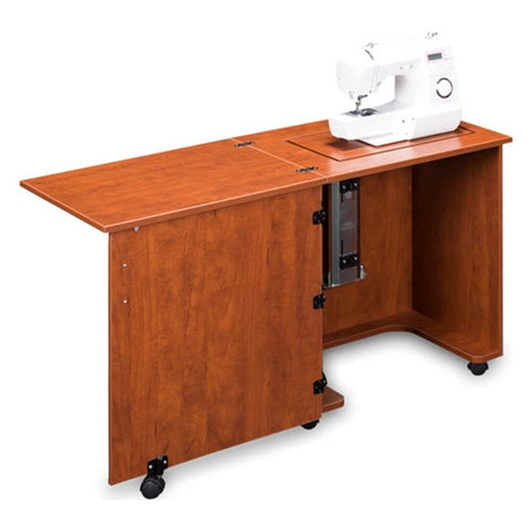 Compact Sewing Machine Cabinet in Cherry