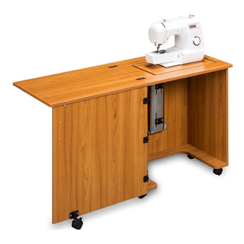 Compact Sewing Machine Cabinet in Teak