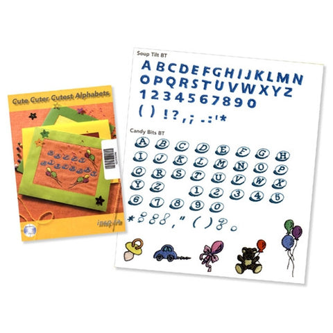 Cute Cuter Cutest Alphabet's Design CD #16 by Inspira
