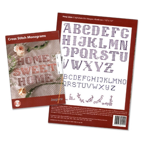 Cross Stitch Monograms Design CD by Inspira