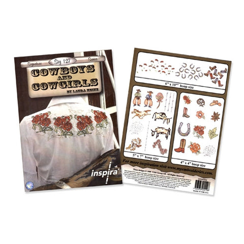 Cowboys and Cowgirls Embroidery CD by Inspira