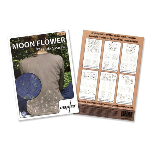 Moon Flower Embroidery CD by Inspira