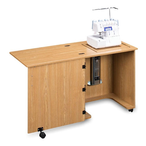 Compact Serger Cabinet in Castle Oak