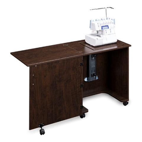 Compact Serger Cabinet in Brown Pear Wood