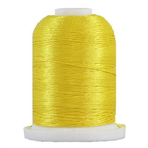 YLI Designer 7 Polyester Floss in Brt. Yellow,250yd