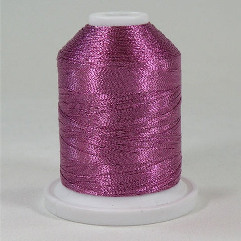 Robison-Anton Metallic in Pink, 1000yd Spool