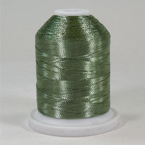 Robison-Anton Metallic in Pale Green, 1000yd Spool