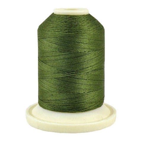 Thimbleberries 50wt Cotton in Basil Green, 500yd Spool