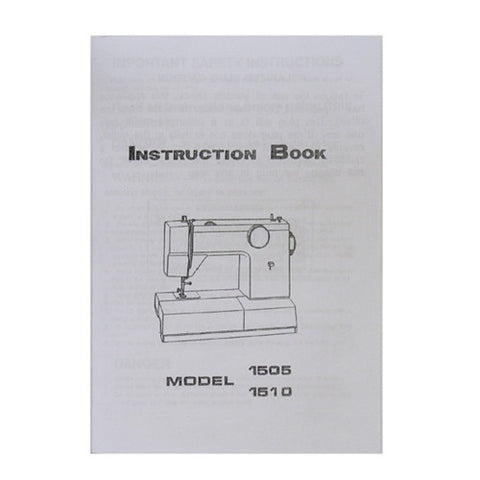 Instruction Book White 1505, 1510