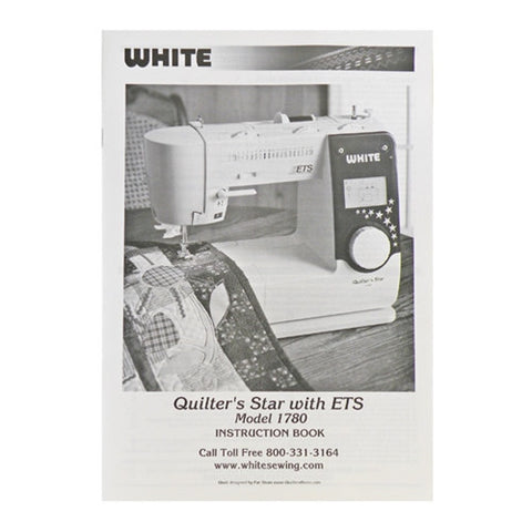 Instruction Book White 2235, 1780 Quilters Star