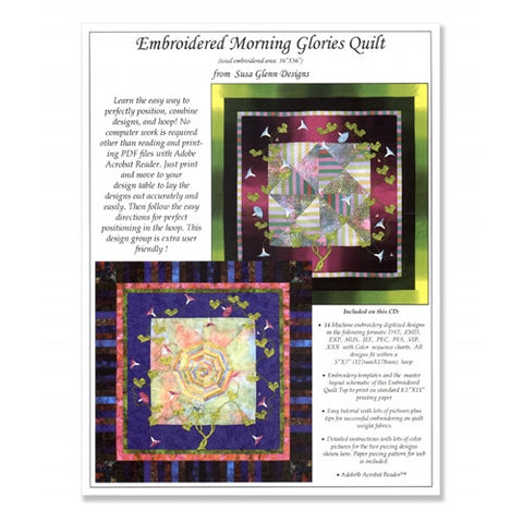 Morning Glories Quilt CD by Susa Glenn
