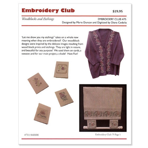 Woodblocks & Etchings Embroidery Club Disk #75