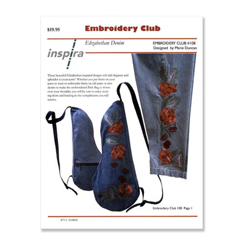 Elizabethan Denim Embroidery Club Disk #108