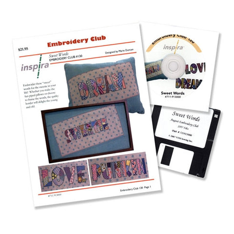 Sweet Words Embroidery Club Disk #130